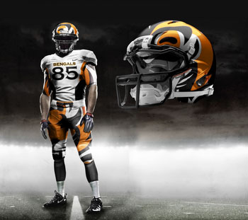 Fictional Nike NFL Uniforms Play-Fake National Media 3