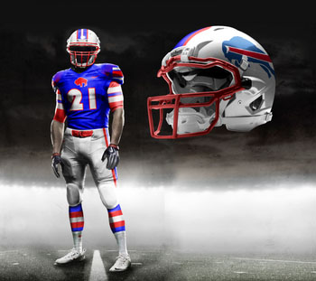 Fictional Nike NFL Uniforms Play-Fake National Media 4