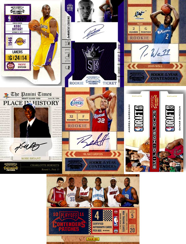 2010-11 Playoff Contenders Patches Basketball 1