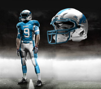 Fictional Nike NFL Uniforms Play-Fake National Media 16