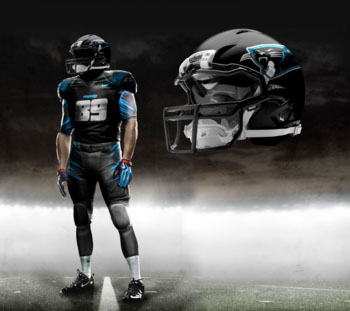 Fictional Nike NFL Uniforms Play-Fake National Media 17