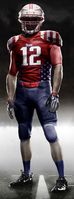 Fictional Nike NFL Uniforms Play-Fake National Media 18