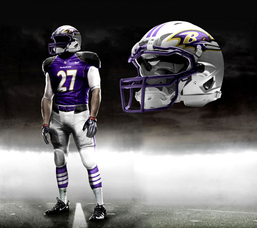 Fictional Nike NFL Uniforms Play-Fake National Media 21