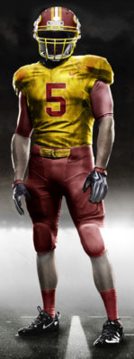 Fictional Nike NFL Uniforms Play-Fake National Media 22