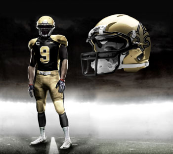 Fictional Nike NFL Uniforms Play-Fake National Media 23