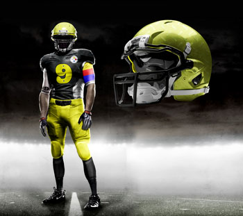 Fictional Nike NFL Uniforms Play-Fake National Media 25