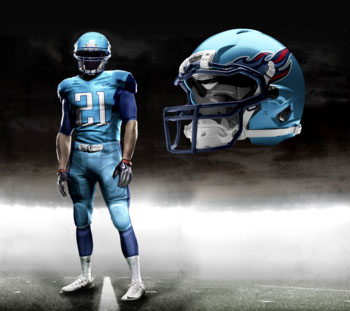 Fictional Nike NFL Uniforms Play-Fake National Media 27