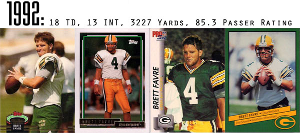 The Epic Story of Brett Favre's Streak Told Through Football Cards 2