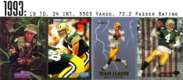 The Epic Story of Brett Favre's Streak Told Through Football Cards 3