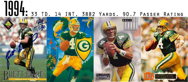 The Epic Story of Brett Favre's Streak Told Through Football Cards 4