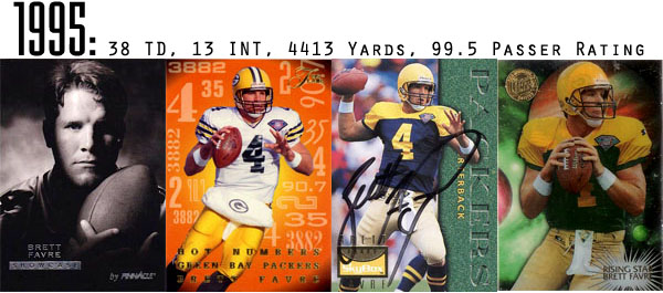 The Epic Story of Brett Favre's Streak Told Through Football Cards 5