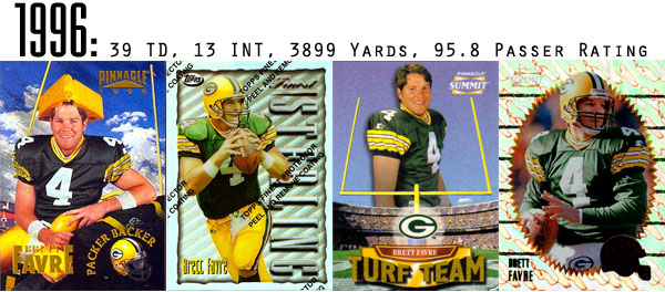 1996 Brett Favre Football Cards