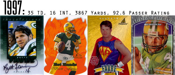 The Epic Story of Brett Favre's Streak Told Through Football Cards 7