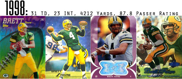 1998 Brett Favre Football Cards