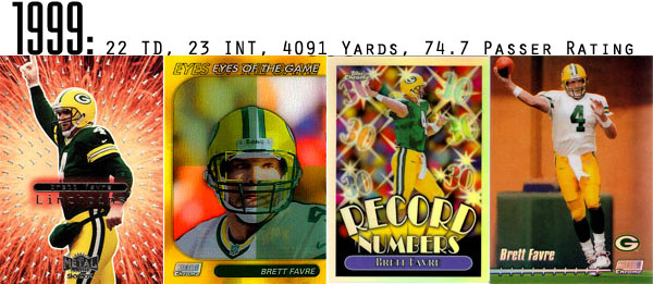 The Epic Story of Brett Favre's Streak Told Through Football Cards 9