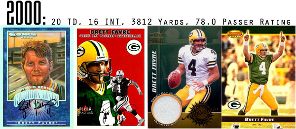 The Epic Story of Brett Favre's Streak Told Through Football Cards 10