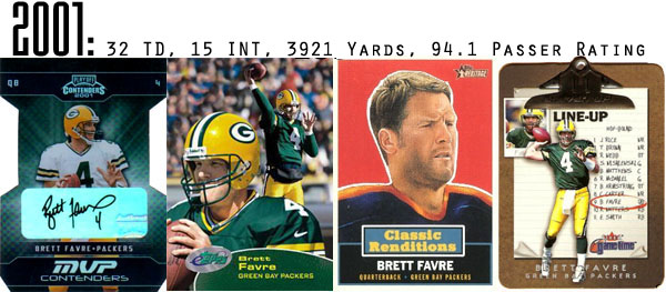 2001 Brett Favre FOotball Cards