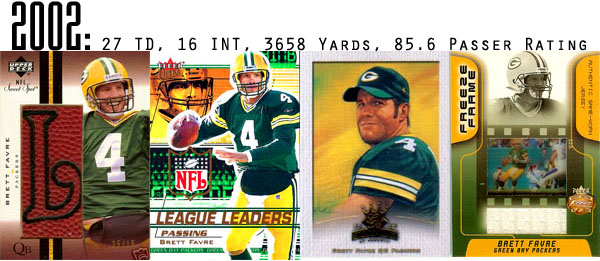 The Epic Story of Brett Favre's Streak Told Through Football Cards 12