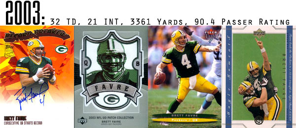 The Epic Story of Brett Favre's Streak Told Through Football Cards 13