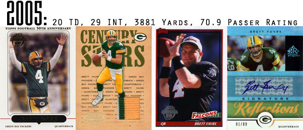 The Epic Story of Brett Favre's Streak Told Through Football Cards 15