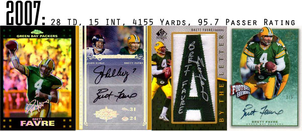 The Epic Story of Brett Favre's Streak Told Through Football Cards 17