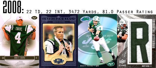 The Epic Story of Brett Favre's Streak Told Through Football Cards 18