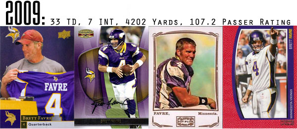 The Epic Story of Brett Favre's Streak Told Through Football Cards 19