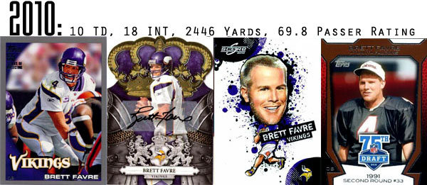 2010 Brett Favre Football Cards