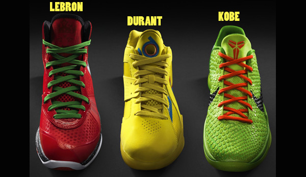 Nike Releases Kobe, LeBron and Durant's Christmas Day Shoes 5