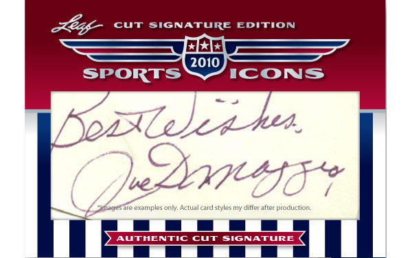 2010 Leaf Cut Signature Sports Icons Update: The Search For Shoeless Joe 3