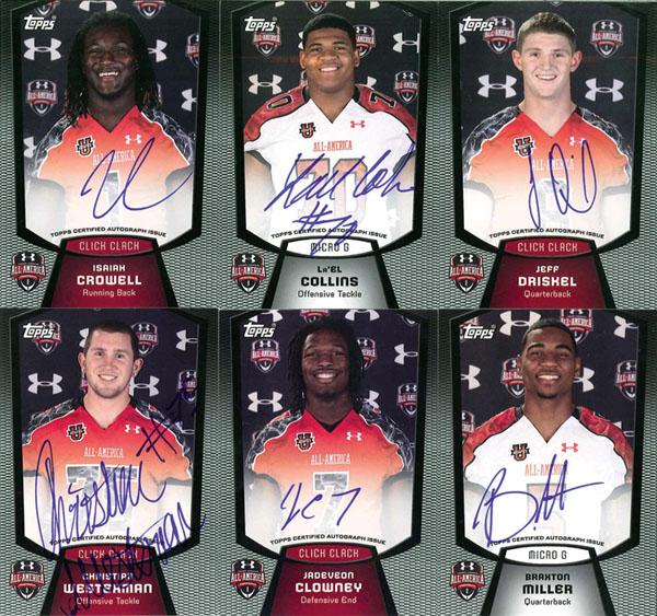 Topps Creates Exclusive Football Cards For Under Armour All-American Game 1