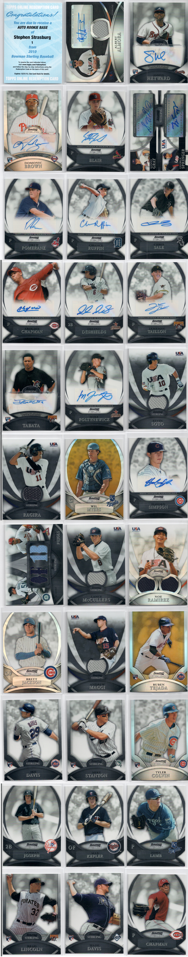 2010 Bowman Sterling Baseball Review 1