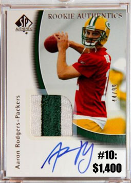 Top 10 eBay Football Card Sales: Aaron Rodgers 2