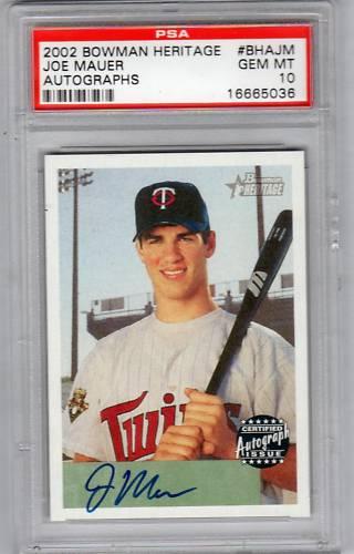 Virtual Card Show: Joe Mauer Baseball Cards 48