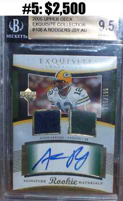 Top 10 eBay Football Card Sales: Aaron Rodgers 7