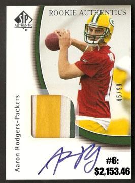 Top 10 eBay Football Card Sales: Aaron Rodgers 6