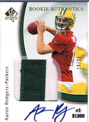 Top 10 eBay Football Card Sales: Aaron Rodgers 5