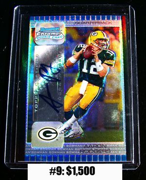 Top 10 eBay Football Card Sales: Aaron Rodgers 3