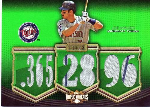 Virtual Card Show: Joe Mauer Baseball Cards 27