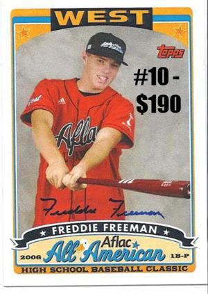 Top 10 eBay Baseball Card Sales: Freddie Freeman 2