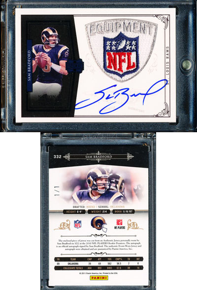 Big Time Hits: 2010 National Treasures Football  60