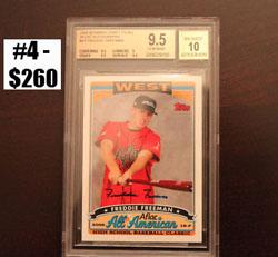 Top 10 eBay Baseball Card Sales: Freddie Freeman 8
