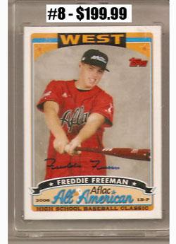 Top 10 eBay Baseball Card Sales: Freddie Freeman 4