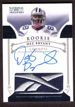 Big Time Hits: 2010 National Treasures Football  47