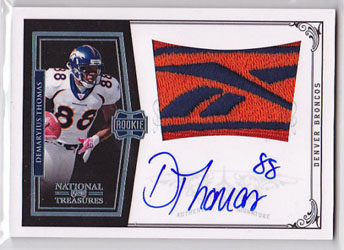 Big Time Hits: 2010 National Treasures Football  27
