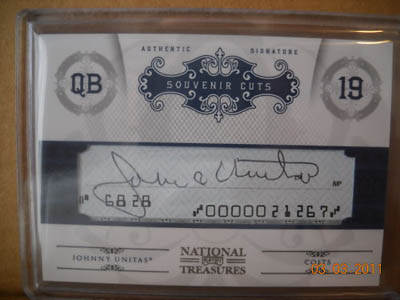 Big Time Hits: 2010 National Treasures Football  39