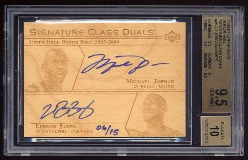 Ultimate 23 - Top Michael Jordan & LeBron James Dual Autograph Cards 1
