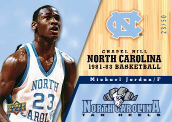 2010-11 Upper Deck North Carolina Basketball 1