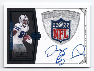 Big Time Hits: 2010 National Treasures Football  5