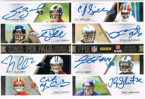 Big Time Hits: 2010 National Treasures Football  59